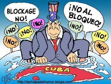 ¡No al bloqueo yanqui contra Cuba!